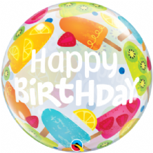 "Birthday Frozen Treats Bubble Balloon (22"") 1pc"